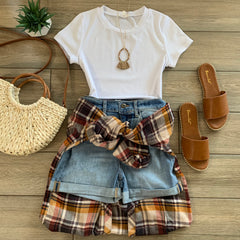 TAWNY Plaid Button Up
