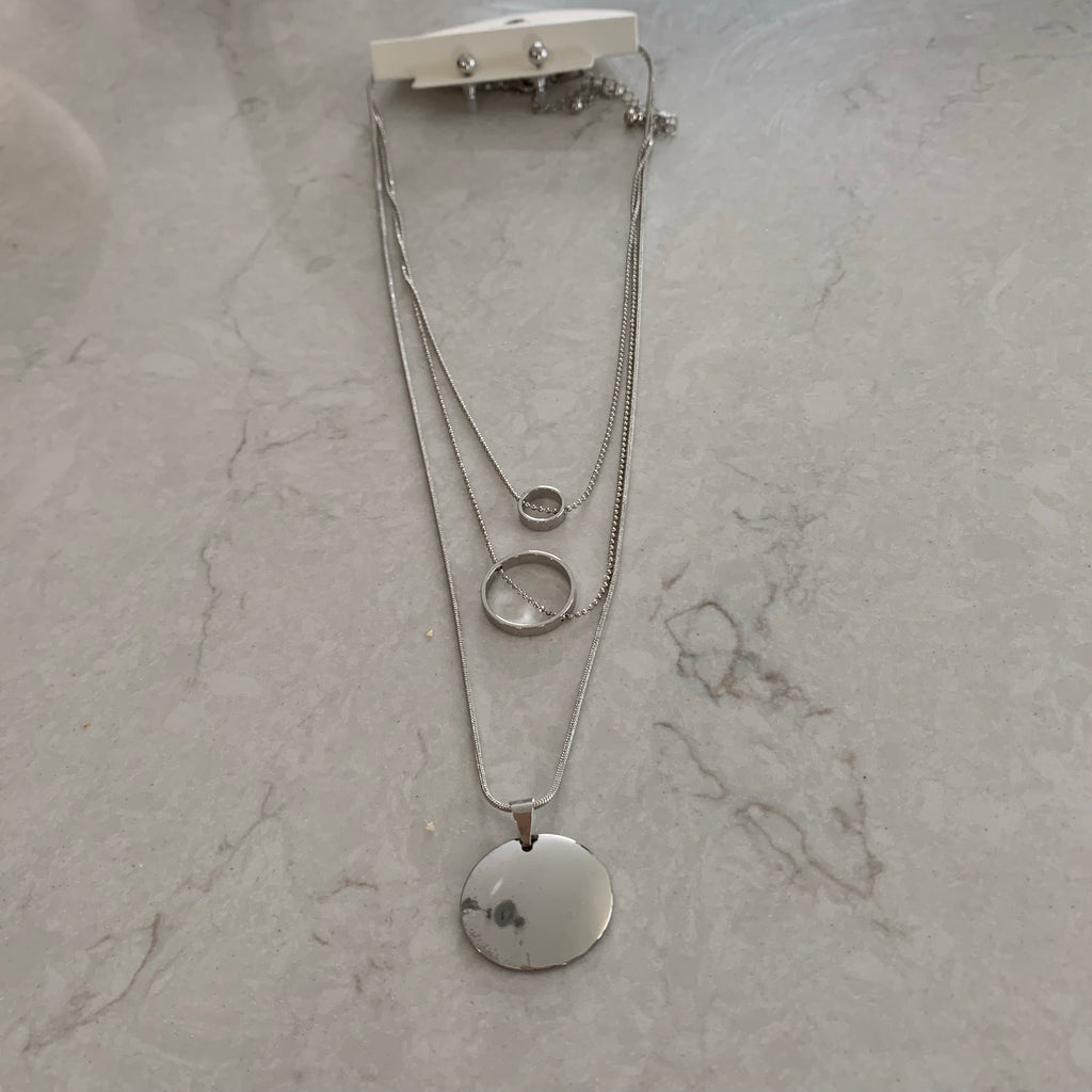 Trio chain Silver necklace