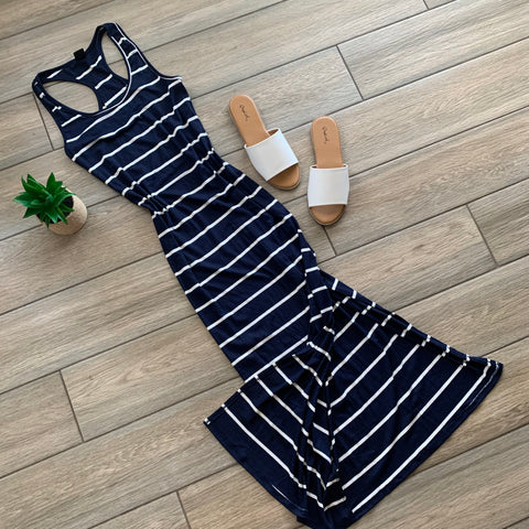 NIELLY Stripe Capri Maxi (Navy) LARGE Only