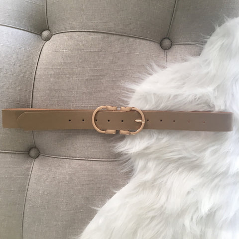 Dark Nude Buckle Belt