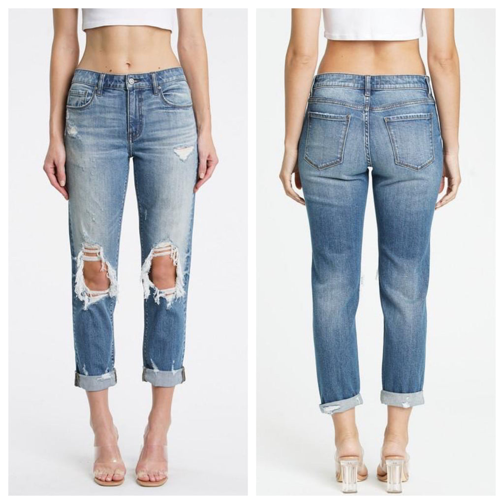 FRANKIE Girlfriend Denim (Dark Wash) Sizes 0-11