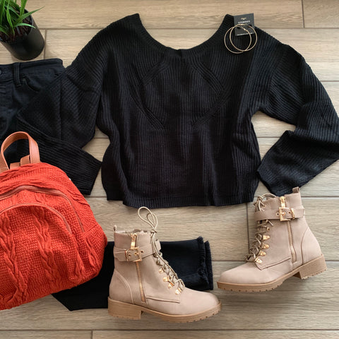 SARA Simple Sweater (Black)
