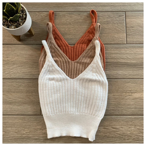 Crissy Knit Tanks (3 Colors)