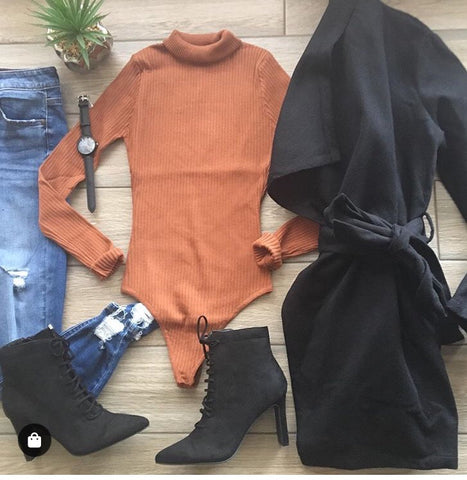 TORI Bodysuit (Rust) SMALL Only