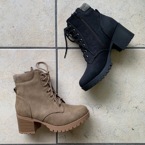 JESSIAH Boots (Taupe & Black)