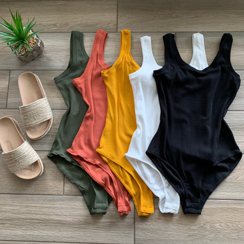 RONI Ribbed Bodysuits (5 Colors)