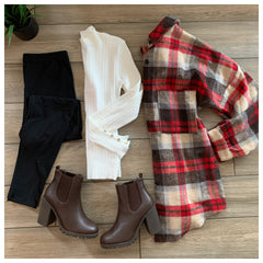 HOLLY Plaid Flannel (Red)