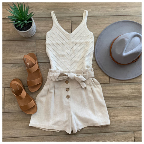 PIPER Knit Tank (Ivory)