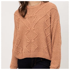 CARLIE Plush Sweater (Camel) S-XL