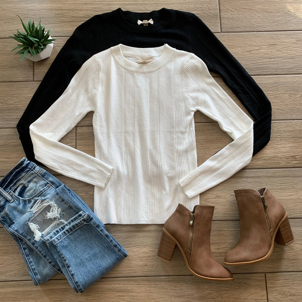 TIFFANY Sweater Tops - White Only