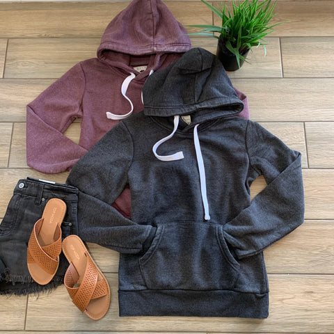 VINTAGE Hoodies (Plum & Charcoal)