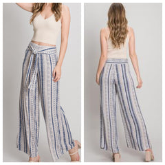PATRICIA Wide Leg Pants (Blue)