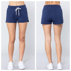 SOPHY Sweat Shorts (Grey, Blush & Navy)