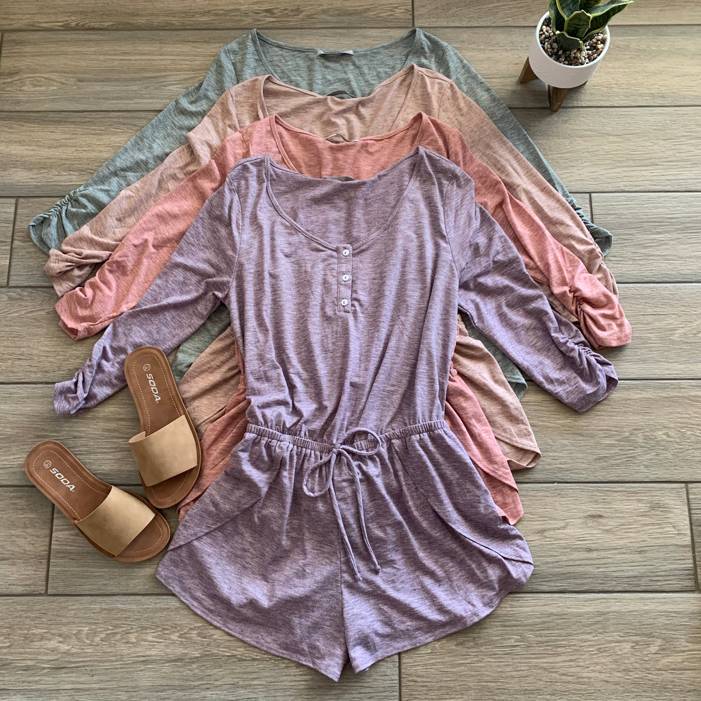 PRISCILLA Cotton Romper (4 Colors)