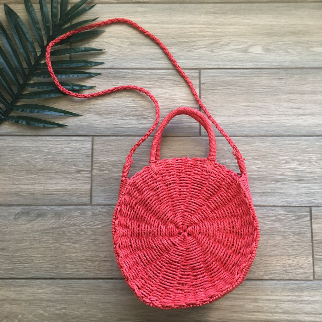 Coral Basket Purse