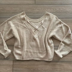 SARA Simple Sweater (Ivory)