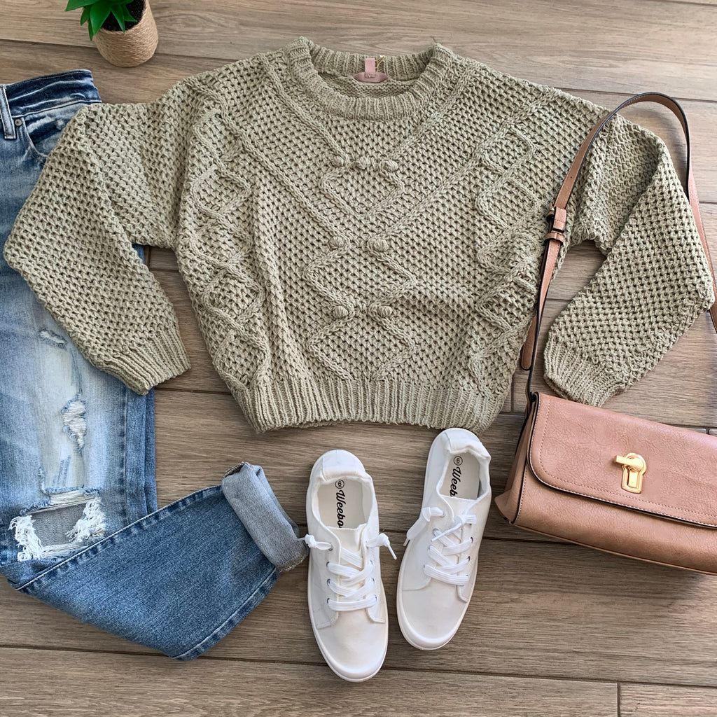 CARLIE Plush Sweater (Sage) S-XL