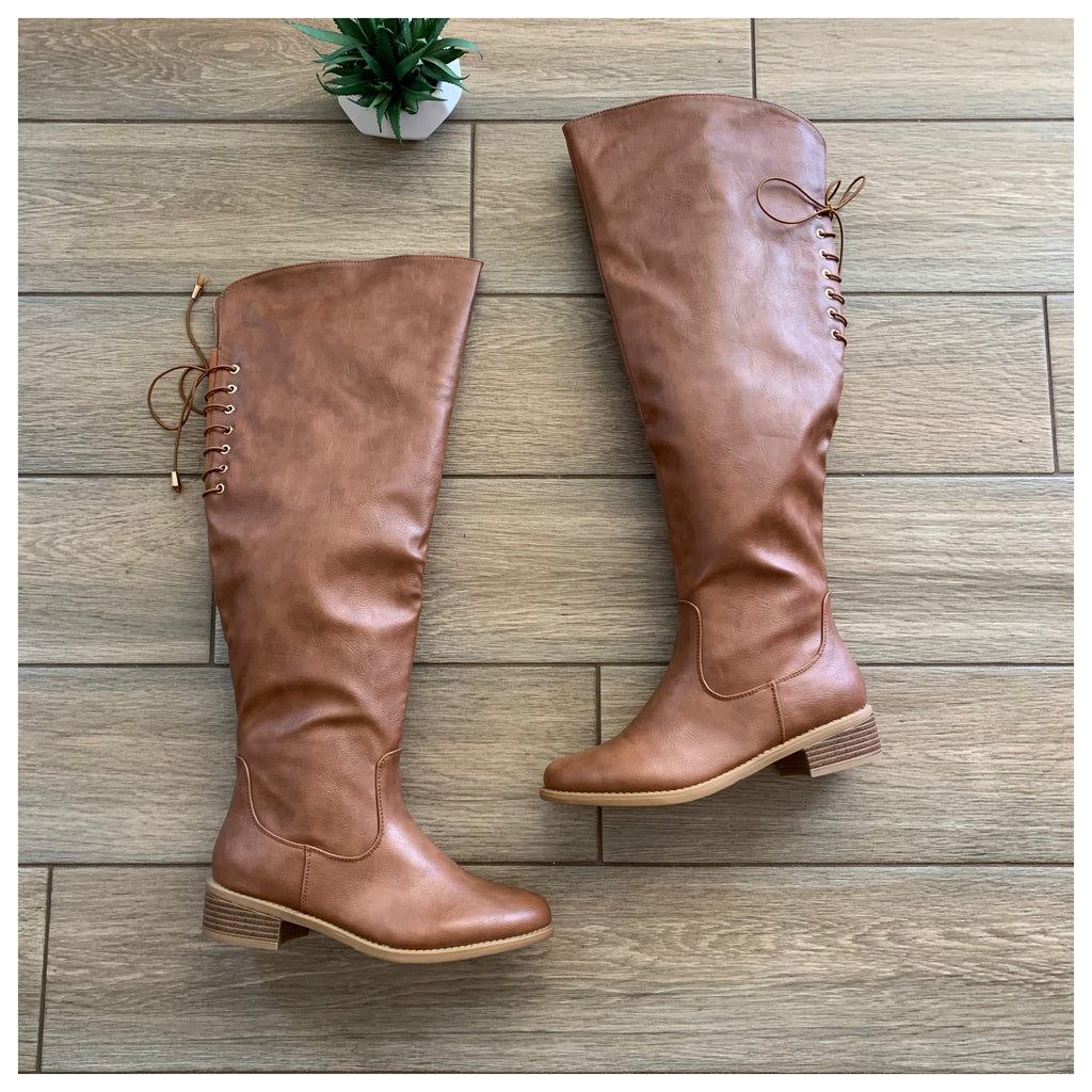 CHELSY OTK Boot (TAN LEATHER) sizes 5.5, 8.5 & 9 left