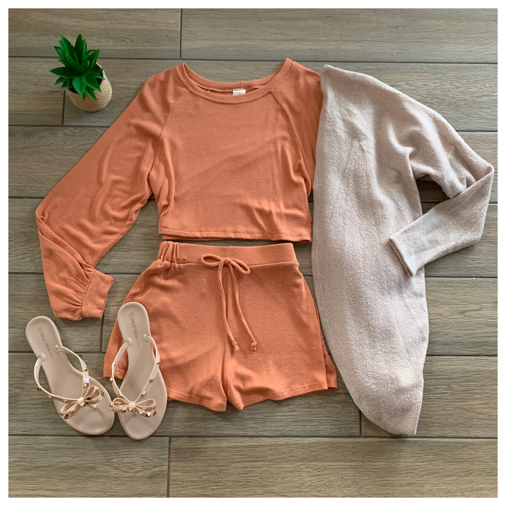 PEACHES Cozy Set (Lt rust)
