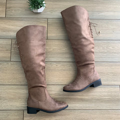 CHELSY Over the Knee Boots (Taupe) sizes 5.5,6 & 10