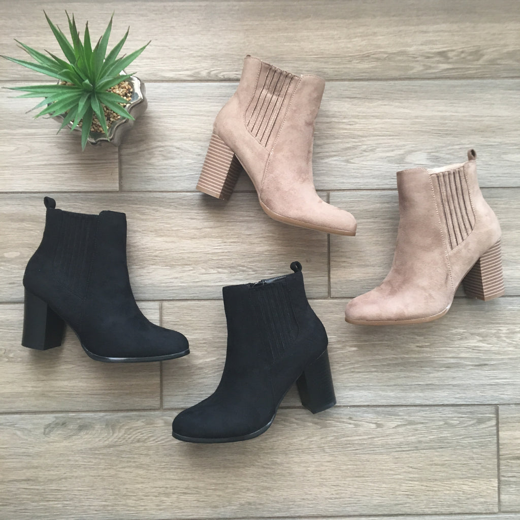 LANA Booties (Nude & Black) SIZE 10 ONLY