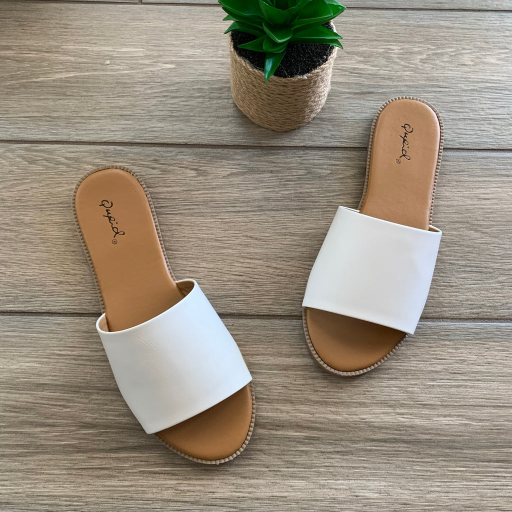 SALLY White Sandals