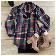 HOLLY Plaid Flannel (Navy)