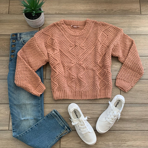 CARLIE Plush Sweater (Camel)