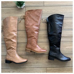CHELSY OTK Boot (NUDE LEATHER)