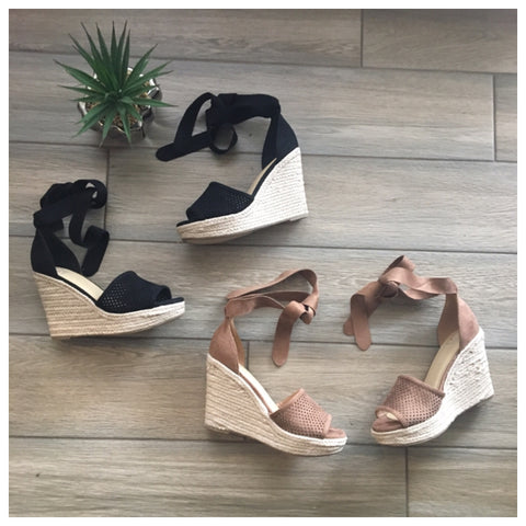 GISELLE Wedges (Taupe Only)