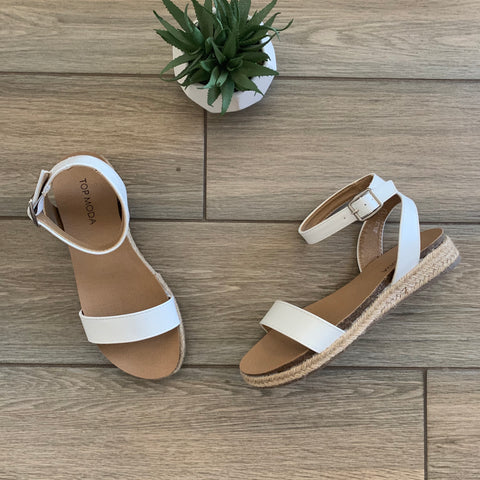 JOLIE Sandals (White) Size 9 & 10 Only