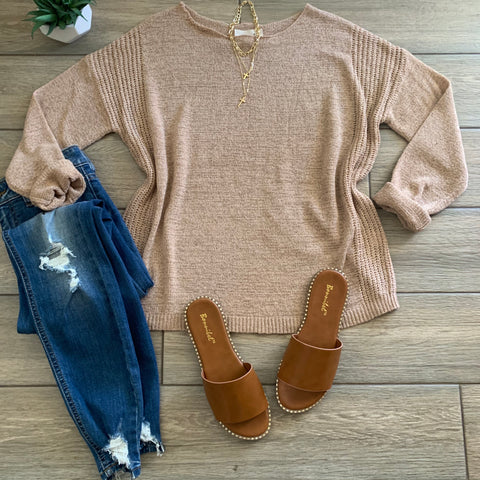 MALIBU Light Sweater (Taupe) Size LARGE Only