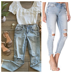 JOJO Light Wash Denim -sizes 7 & 13