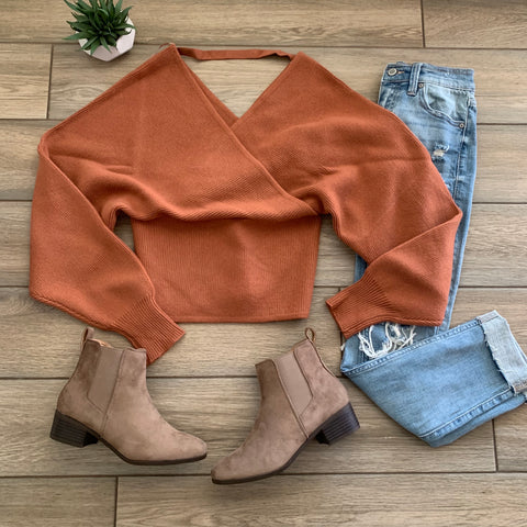 JACKLYN Sweater (Rust)