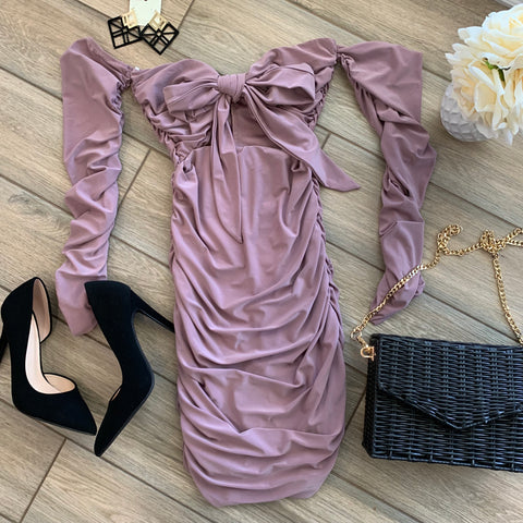 HADLEY Shirred Dress (Blush)
