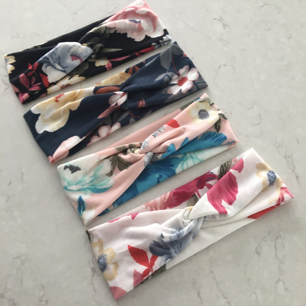 Floral headbands (4 colors)