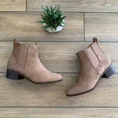 PAULA Black Bootie (SUEDE) Sizes 6 & 8.5 Only