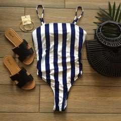 RHONDA One Peice Stripe Bathing Suit XSMALL & MEDIUM
