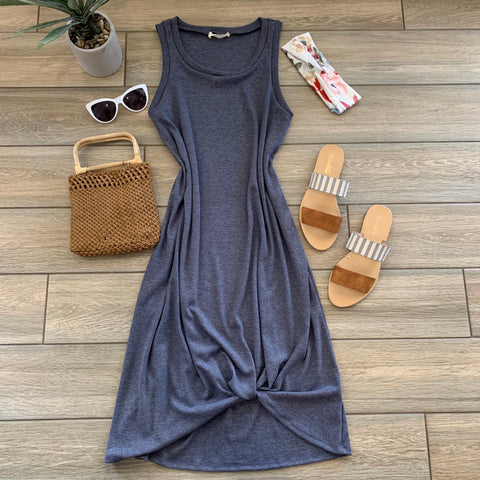 ALLIE Twist Dress (Blue)