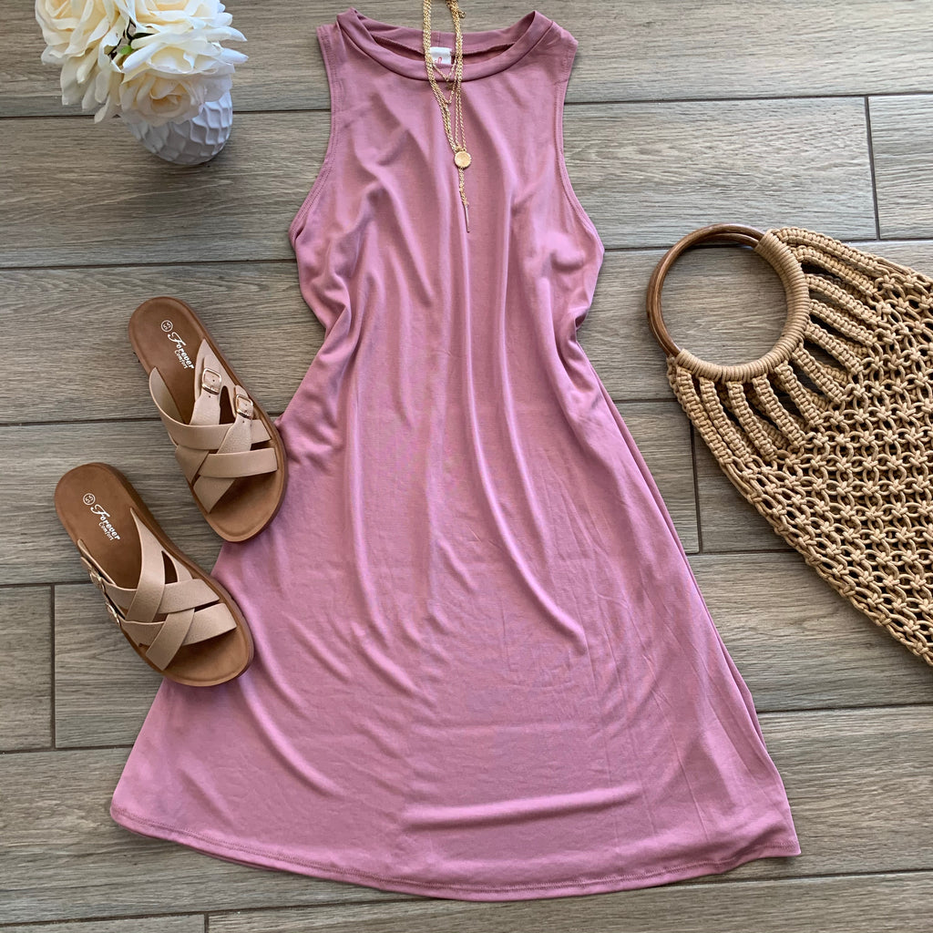 FRAN Shirt Dress (Blush)