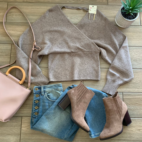 JACKLYN Sweater (Mocha) size S-XL