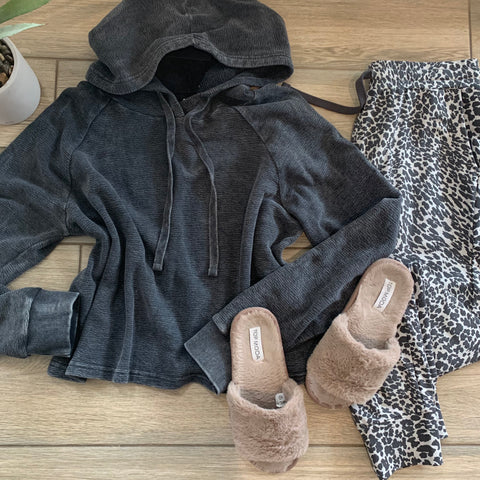 Stonewash Leopard Jogger Set LARGE Only