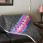 Rainbow Trout - Sherpa Fleece Blanket