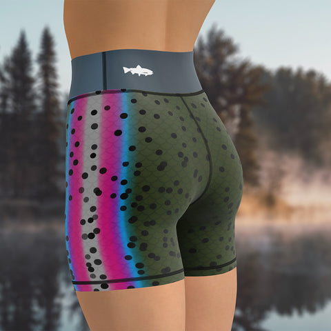 Rainbow Trout - High Waist Shorts