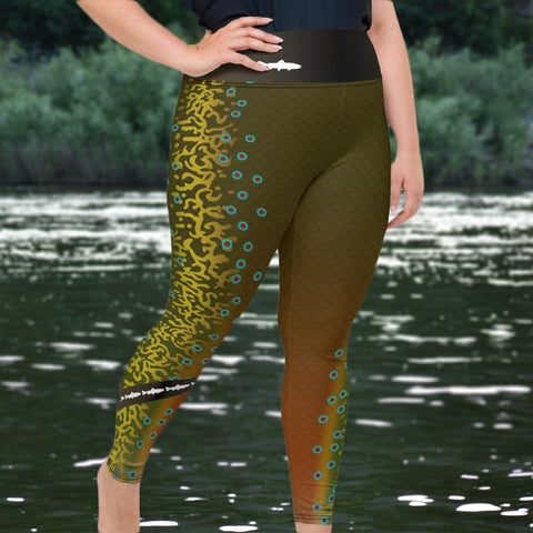 Brook Trout - Curvy Size Leggings