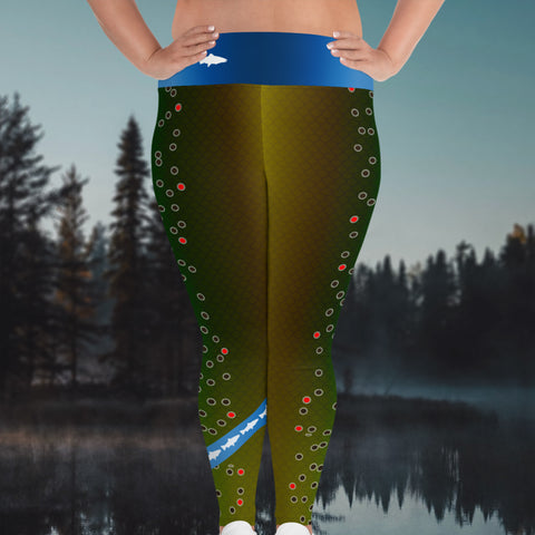 Brown Trout - Curvy Size Leggings