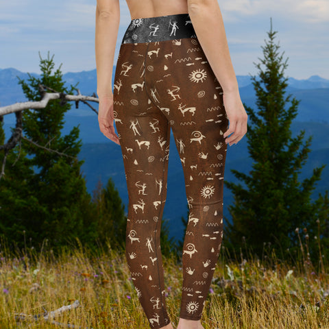 Primitive Press in Brown - Leggings