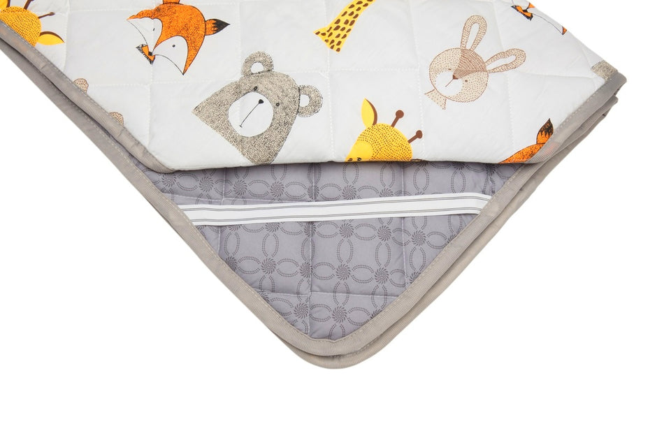 The baby play mat is safe and non-slip!