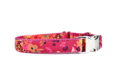 Berry Red Floral Dog Collar Danes & Divas