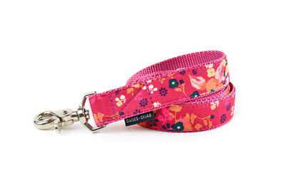 Berry Red Floral Dog Leash Danes & Divas